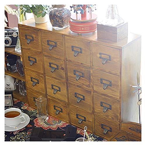 WJCRYPD Mueble De Madera Sólido Retro 16 Compartimento Gabinete De Almacenamiento Gabinete del Cajón 16 Compartimiento Clasificación De La Caja De Almacenamiento Qf Shop