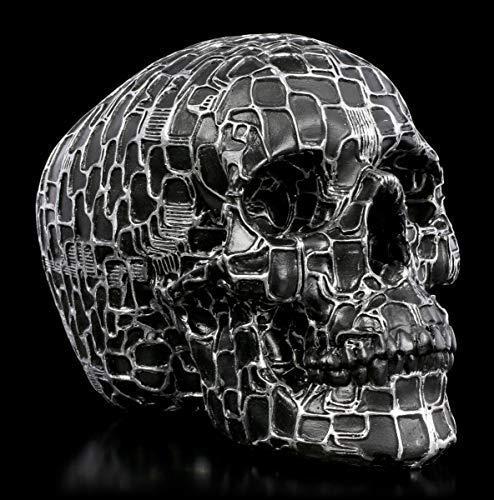 Figuren Shop GmbH Gothic Totenkopf - Neural Network | Fantasy Dekoartikel, Handbemalt