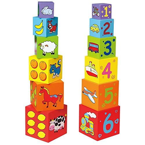 Viga Toys - 59461 - Forme À Trier Et À Empiler - Cubes Gigognes - Bois