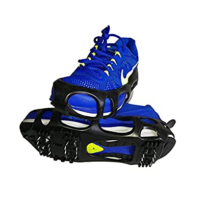 atliprime Traction Shoe Ice Traction Cleat, Ice & Snow Grips Cleat Over Shoe/Boot Rubber Spikes Anti Slip Crampons Slip-on Stretch Footwear (XL (13.5-16 Men))