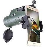 BEKVOT 10x42 Puissant Compact Imperméable Monoculaire, avec Adaptateur de Smartphone...