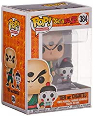 From Dragonball Z, Chiaotzu & Tien, as a stylized POP vinyl from Funko! Stylized collectable stands 3 ¾ inches tall, perfect for any Dragonball Z fan! Collect and display all Dragonball Z figures from Funko! Funko pop! is the 2017 toy of the year and...