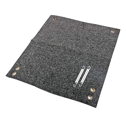 freizeit Fußmatte für Trittstufen Wohnwagen Wohnmobil Fußmatte, 45x40 cm, grau