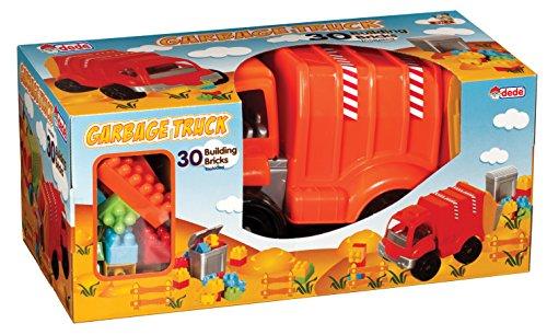 Enfants Pousser Fire Engine - Truck Childrens - Toddler Toy - 30 Building Blocks