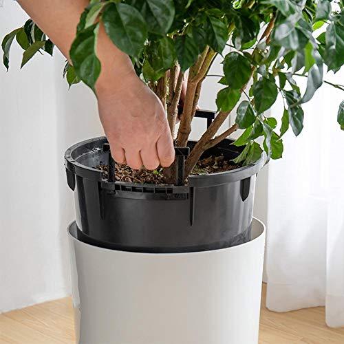 JKXWX Smart bloempot, grote liter plastic bloempot met handvatten Outdoor Tuin, ronde vloer woonkamer bloempot