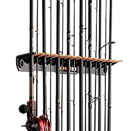 KastKing Support pour cannes à pêche vertical breveté V15 – Support mural pour cannes à pêche, peut contenir 15cannes à pêche ou moulinets sur 45,7cm