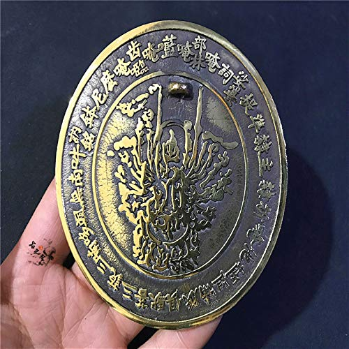 hkwshop Espejo Bagua Espejo de Bronce China Espejo de Cobre chisme Adornos Feng Shui Espejo Bagua para protección