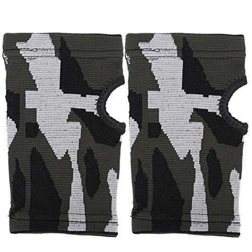 Pwshymi Entrenamiento Equipo de protección Protector de Medio Dedo Conveniente Unisex Ligero para Culturismo(XL)
