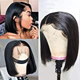 Dorosy Hair Short Bob Human Hair Lace Front Wigs for Black Women Brazilian Remy Hair Wigs Straight Lace Wigs Pre Plucked with Baby Hair 8 inch