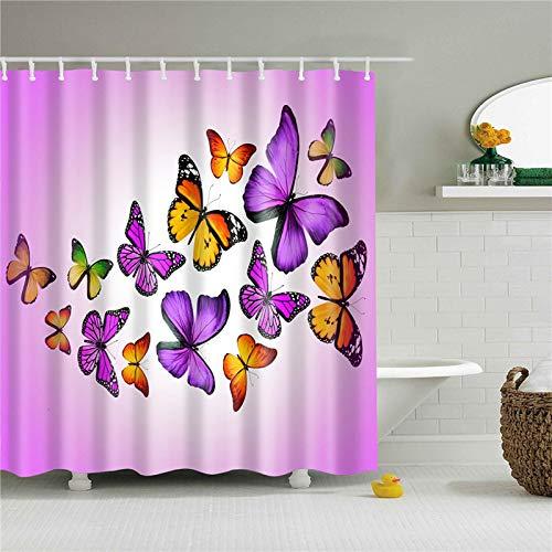 Liufengyun Animals Printed Shower Curtain With 12 Hooks Home Decoration Bathroom Curtains Waterproof Bath Screens 180x200cm TZ170609