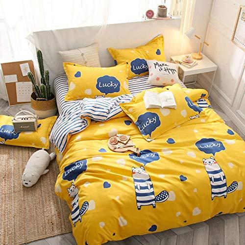 hdfj12146 Conjunto de Ropa de Cama Cama NORDICA Cubierta 16 CUBROS Cubiertas DE Duvet DE DORMITORIOS Sets Sets Conjunto DE Cubierta DE TRESEPLE Azul Twin (172x218cm)