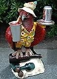 The King's Bay Parrot Butler Statue Bird Drink Serving Silver Tray 2' Waiter Restaurant Kitchen