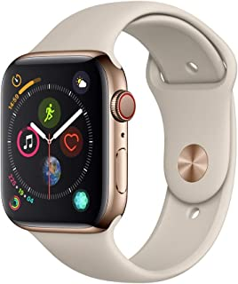 AppleWatch Series4 (GPS+Cellular, 44mm) - Gold Stainless Steel Case with Stone Sport Band