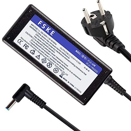 FSKE® 19.5V 3.33A 65W Alimentation pour Ordinateur Portable HP ppp012d-s Chargeur HP 250 g6 Pavilion 15 17 Elitebook 840 g3 830 g6 probook 440 g4 450 g6 Adaptateur Connecteur : 4.5 * 3.0mm