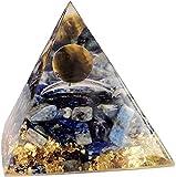 DFGYD Energy Pyramid Crystals Ornaments Tiger Eye Crystal Sphere &amp Obsidian Quartz Pyramid Rubix Cube Mold Reiki Healing Meditation Yoga Spiritual Balance Crystals Stones A-A