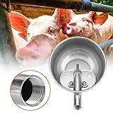 Ciotola per acqua automatica in acciaio inossidabile per animali da allevamento abbeveratoi per suini ovini caprini suinetti porcellini porcellini cavalli di piccola taglia allevamento di bestiame