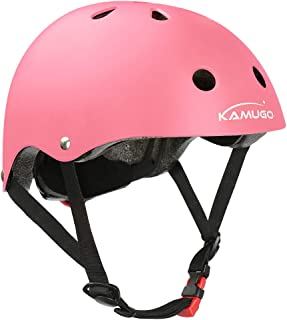 KAMUGO Kids Helmet,Toddler Helmet Adjustable Kids Helmet CPSC Certified Ages 3-8 Years Old Boys Girls Multi- Sports Safety Cycling Skating Scooter and Other Extreme Activities Helmet