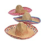 Adult Embroidered Fiesta Sombreros Hat (1 Dozen) Cinco de Mayo Party Supplies