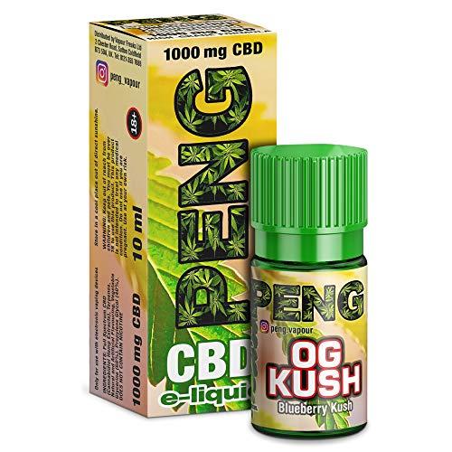 """Preisvergleich Produktbild Vollspektrum CBD E-Liquid""""OG Kush 10ml,  600mg CBD / 60VG / 40 PG / Enthält Cannabidiol kann gegen Schmerzen,  Entzündung & Stress helfen - Vape Liquid ohne Nikotin"""