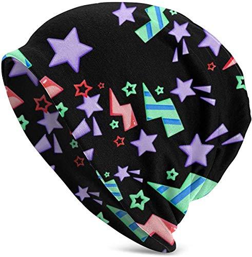 JJsister Wintermütze,Strickmütze,Beanie Mütze Stars Lightning and Swirls Beanie Hat Hipster Knit Hat Stretch Casual Headwear