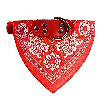 Boodtag Bandana Chien Echarpe Foulard Col Triangle Collier Réglable Motif Paisley pour Chiot Chat Animal de Compagnie