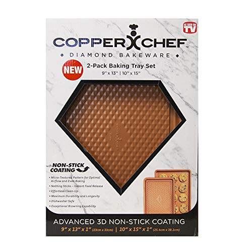 Copper Chef Diamond Cookie Sheet Set of Two Baking Sheets