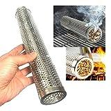 Unda118 BBQ Pellet Smoker Tube Generador de Humo de 12'para Fumar en frío y Caliente Tubo de Fumador de Acero Inoxidable Horas de Humo frío para Todas Las Parrillas eléctricas a Gas y carbón