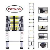 Telescopic Ladder Aluminum Extension Telescoping Ladder Foldable...