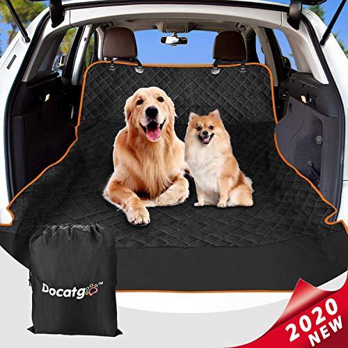 Docatgo [Aktualisierte Version Hundedecke für Auto Rückbank, Autoschondecke für Hunde. wasserdichte Hunde Autoschondecke, Kratzfest, rutschfeste Hundedecke für Auto/SUV MEHRWEG