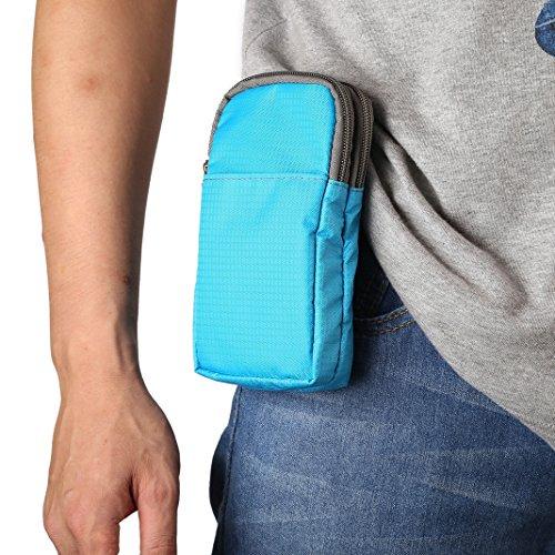Sacchetto Clip da Cintura, Borsa a Tracolla Uomo per Cellulare, Moon mood 6.0' Borsello in nylon Uomo Borsetta Borsa a Spalla Clip Cintura Shoulder Waist Belt Bag Pouch Custodia per iPhone X 8 7 6