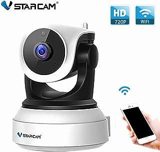 VStarcam Wi-Fi対応カメラ 監視カメラ 防犯カメラ ワイヤレスカメラ ペットモニター WiFi無線接続 ネットワークカメラ PCで遠隔監視可能 暗室撮影 警報機能 WIFIスマホ iPhone操作OK IP WEB カメラ 暗視 防犯セキュリティ 録画機不要 SDカード録画 日本語説明書付き 電波法認証済み(TELEC) VStarcam C24 ホワイト
