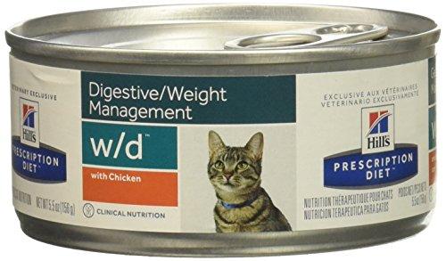 Prescription Diet w/d Feline minced mangime Umido per Il Controllo del Peso Gusto Pollo 24 lattine da 156 gr