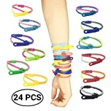 mciskin Friendship Fidget Zipper Bracelets,Sensory Toys Bulk Set Neon Colors,Kit for Birthday,Party Favors for Kids,Goodie Bags,Easter Egg Basket Stuffers(24PCS,Color Random)