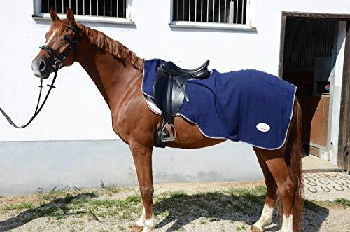 Amesbichler Amesbichler - Manta de forro polar con escote para equitación, color azul oscuro