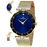 Relógio Champion Feminino Ref: Cn20864a Fashion Dourado