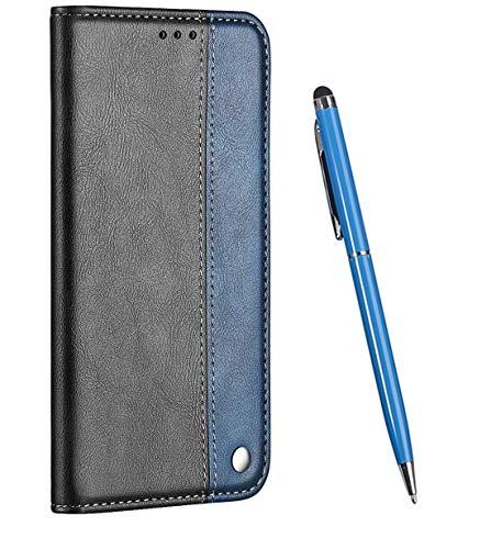 TOUCASA Funda Nokia 5, PU Cuero Slim Case de Estilo Billetera Carcasa TPU Silicona Case Interna Suave [Soporte Plegable Función] [Cierre Magnético] Funda (Azul)