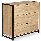 IDMarket - Commode 3 tiroirs Detroit Design Industriel