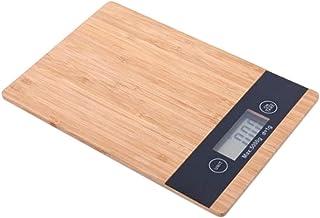 UYZ Madera de bambú Pantalla LCD HD Balanza Digital Baño Antideslizante Pantalla LCD HD multifunción Balanza electrónica Cierre automático Duradero (Color: Grano de Madera)