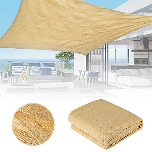 ODOMY Sonnensegel,Sonnenschirm,Sonnenschutz aus reißfestem HDPE-Kunststoff, wetterbeständiger UV-Schutz, luftdurchlässig, Garten, Balkon, Terrasse, Camping, rechteckig,4 * 1.4m Seile (2×3 M)