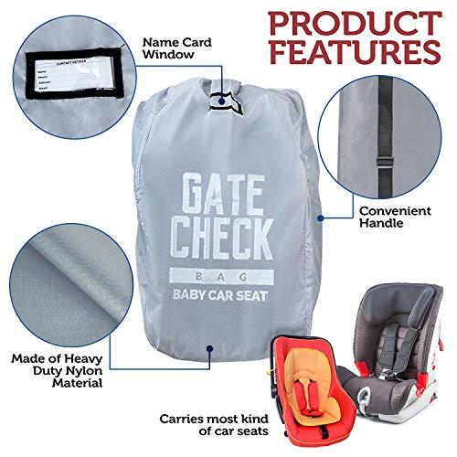 Borsa da Viaggio per Seggiolino Auto - Sacca Porta Seggiolino Auto per Aereo Gate Check-in e Stoccaggio - Facile da Trasportare, Ottimo per Aereo e Bagagli - Compatto e Impermeabile - 100% Protezione