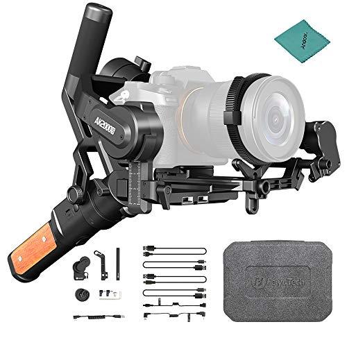 FeiyuTech AK2000S 3-Axis Stabilisateur de Cardan Portable Cardan Vlog sans Balais à Haute Torsion + AFK II Brushless Follow Focus pour Appareils Photo Reflex Numériques sans Miroir (Kit Avancé)