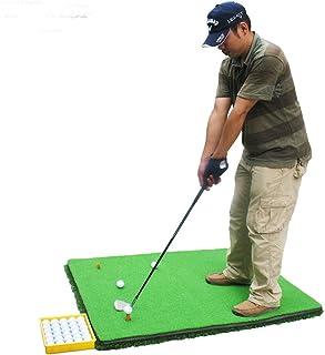 ゴルフ パター マット パッティング 練習 マット 3d厚い滑り止めゴルフパターエクササイザーポータブルポータブルミニゴルフ人工グリーンパッティングマット付きプロフェッショナルグリーングラス (色 : 緑, サイズ : 1.2*3.8M)