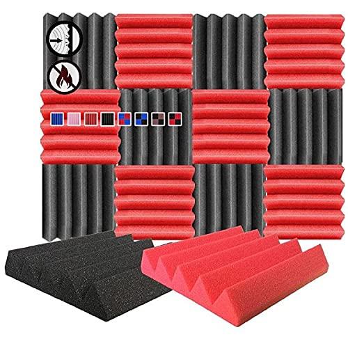 Arrowzoom 12 Paneles acustico absorcion sonido Cuna Wedge 25x25x5cm...
