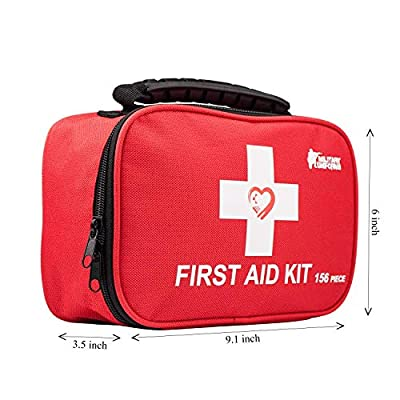 First aid kit,All-Purpose aid kit and Compact Emergency kit First aid for Office,aid Kit Medical for Outdoors,Hiking First aid kit and Camping Emergency kit (Red)