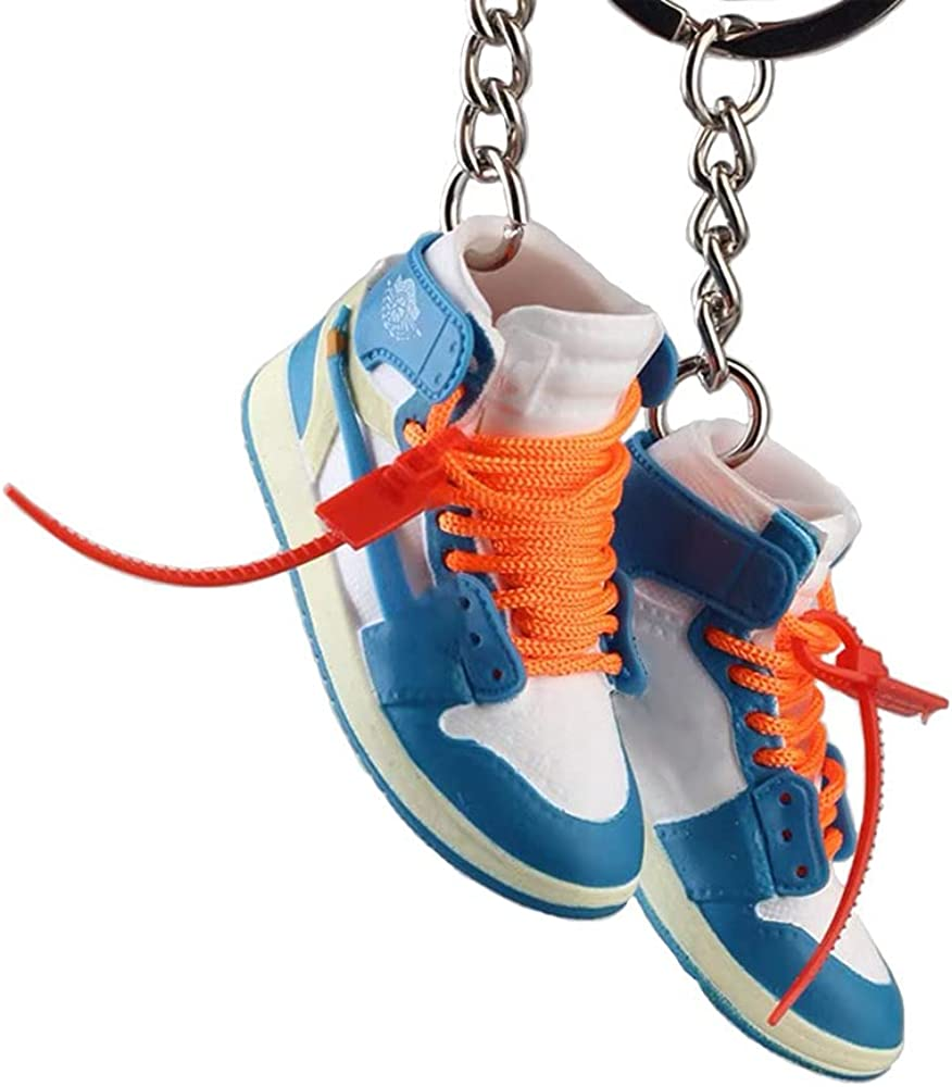 Keychain Keyrings Accessories for Men Women Couples Basketball Sneaker Key Holder Cool Sports Collection Birthday Gift