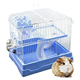 GNB PET Hamster Cage Easy DIY Portable Petite Habitat, Critter Dwarf Hamster Gerbil Mouse Small Animal Travel Cage with 2-Level Habitat, Green