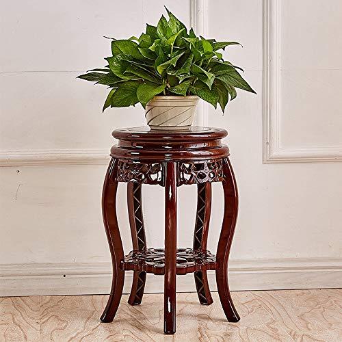 JKXWX Bloempothouder binnen, raamhouder van hout, hout-look, bloemenstandaard, etages, houder voor bloempotten, donkerbruin