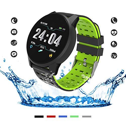 Ciaran Smart Watch, Fitness-Tracker mit Blut-Sauerstoff-Monitor (SpO2) / Blutdruck-Monitor/Herzfrequenz-Monitor/Pulsoximeter Smartwatch Fitness-Uhr Smart Watch für Männer Frauen Android iOS