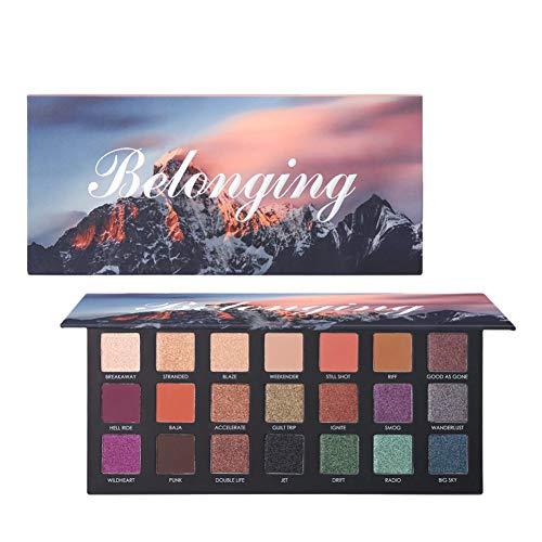 21 Farben Lidschatten-Palette, ROMANTIC BEAR Hochpigmentierter Samt Matte Shimmer...