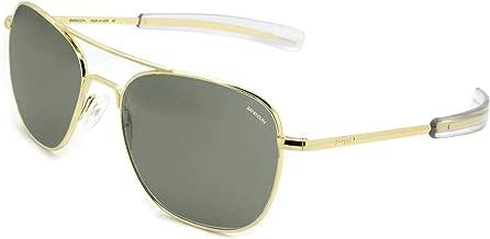 Randolph Engineering Aviator Sunglasses 23K Gold/Bayonet/Skytec AGX Lens 58mm